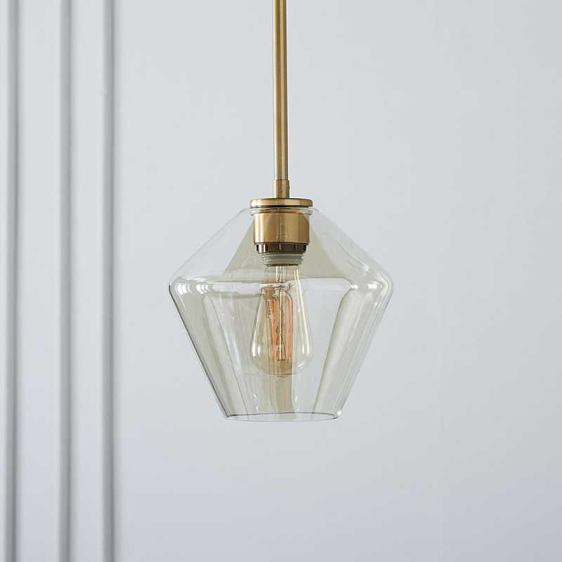 רטרו מודרני זכוכית תליון אור אמנות גוונים מנורת צבעוני תקרת כדור מעושן ענבר ברור בציר לופט מנורות בר דקור מנורה S