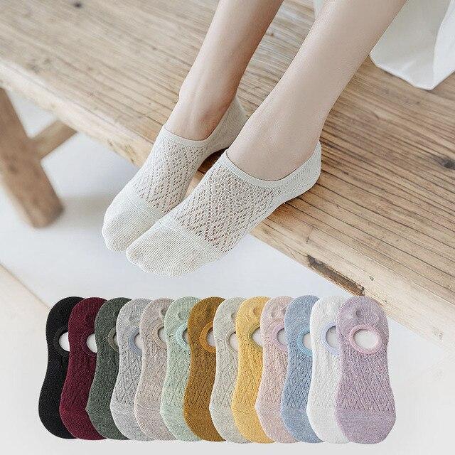 Females 5Pairs Mesh Socks
