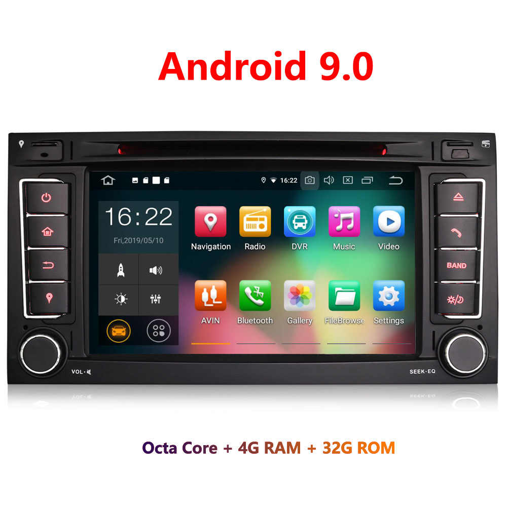 "Erisin ES7956T 7 ""Android 9.0 Octa Core 4 Gb Ram Auto Multimedia Speler Radio Bt Voor Vw Touareg"