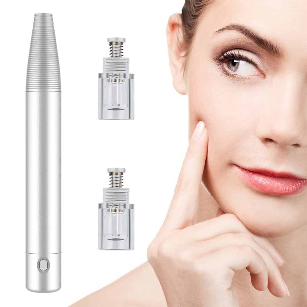 Rechargeable Derma Pen Micro Needle Face Skin Therapy Remove Scar Reduce Wrinkles Tighten Pores Facial Care Beauty Instrument