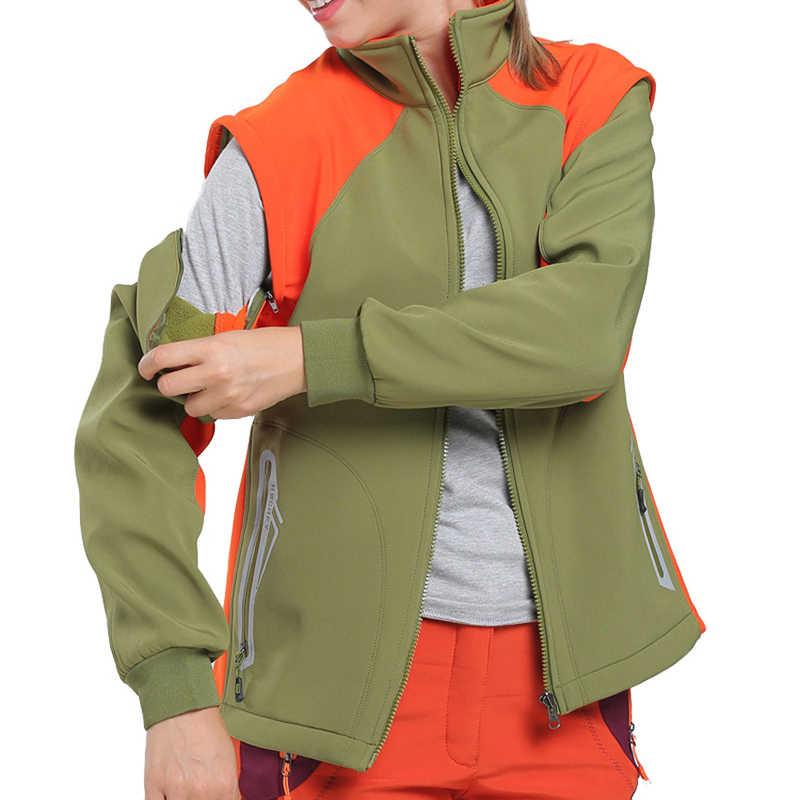 男性女性ソフトシェルフリースジャケット屋外スポーツウインドブレーカーベストハイキングキャンプ釣りブランドコート