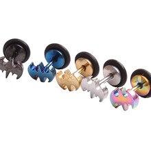 2 pcs/par Moda Mulheres Punk Batman Brincos de Presentes Da Jóia Da Forma Aço Inoxidável Unisex Ear Studs Piercing 5 Cores