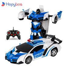 RC Car robot transformujący się Model pojazdu sportowego roboty zabawki fajne zdeformowany samochód dla dzieci zabawki prezenty dla chłopców