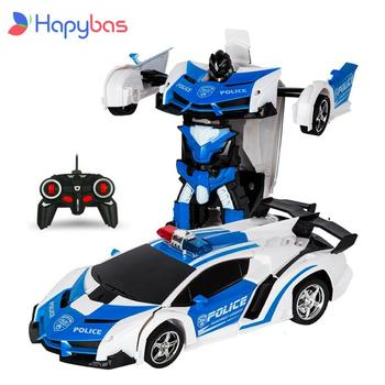 RC Car Transformation Robots Sports Vehicle Model  Robots Toys Cool Deformation Car Kids Toys  Gifts For Boys 26 styles rc car transformation robots sports vehicle model robots toys remote cool rc deformation cars kids toys gifts for boys