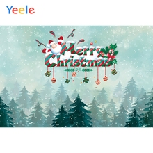 все цены на Yeele Christmas Photocall Pine Forest Fallen Snow Photography Backdrops Personalized Photographic Backgrounds For Photo Studio онлайн