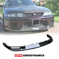 Carbon Fiber Black Glossy Finished For Nissan Skyline R33 GTR Jun Style Front Bumper Lip Exterior Accessories Body kit