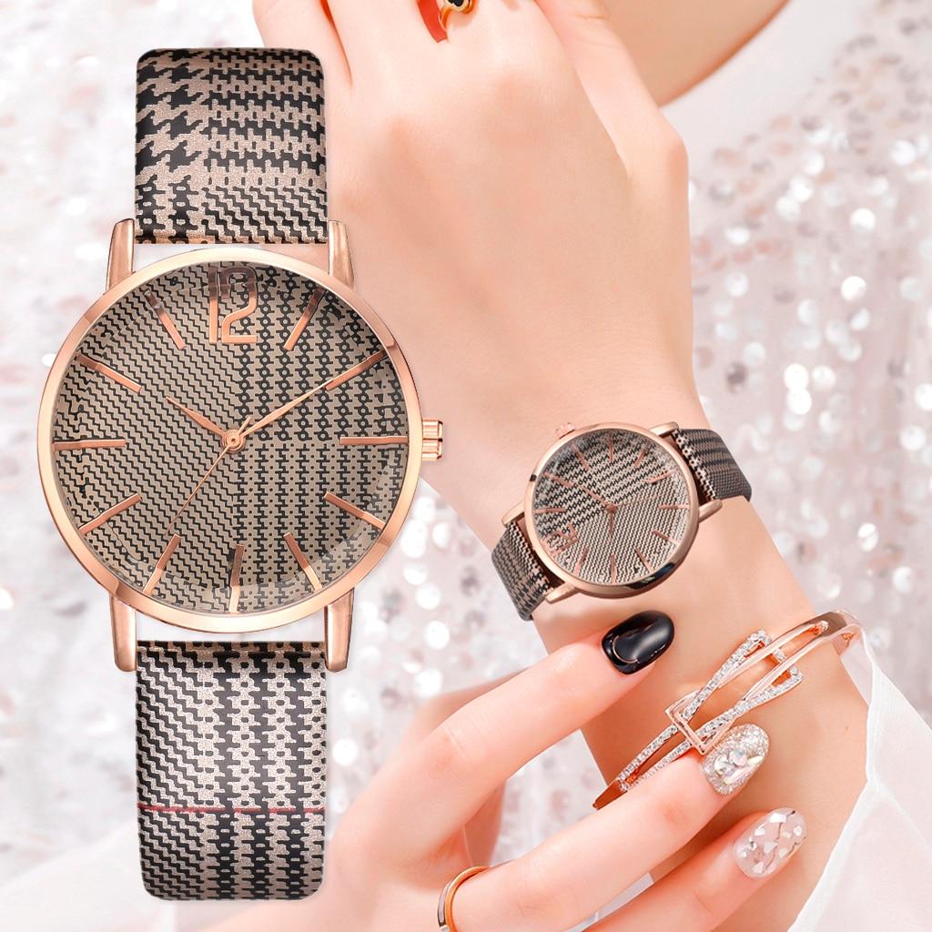 Women Casual Leather Strap Quartz Watch Women Watches Unisex Men Ladies Sports Wristwatch 2019 New Clock Gift Relogio Feminino