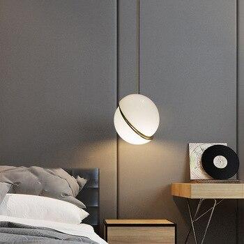 цена Nordic Designer Pendant Lighting Modern Ball Pendant Lights for cafe bar Bedroom Pendant Lamp Indoor Decor Hanging Light Fixture онлайн в 2017 году