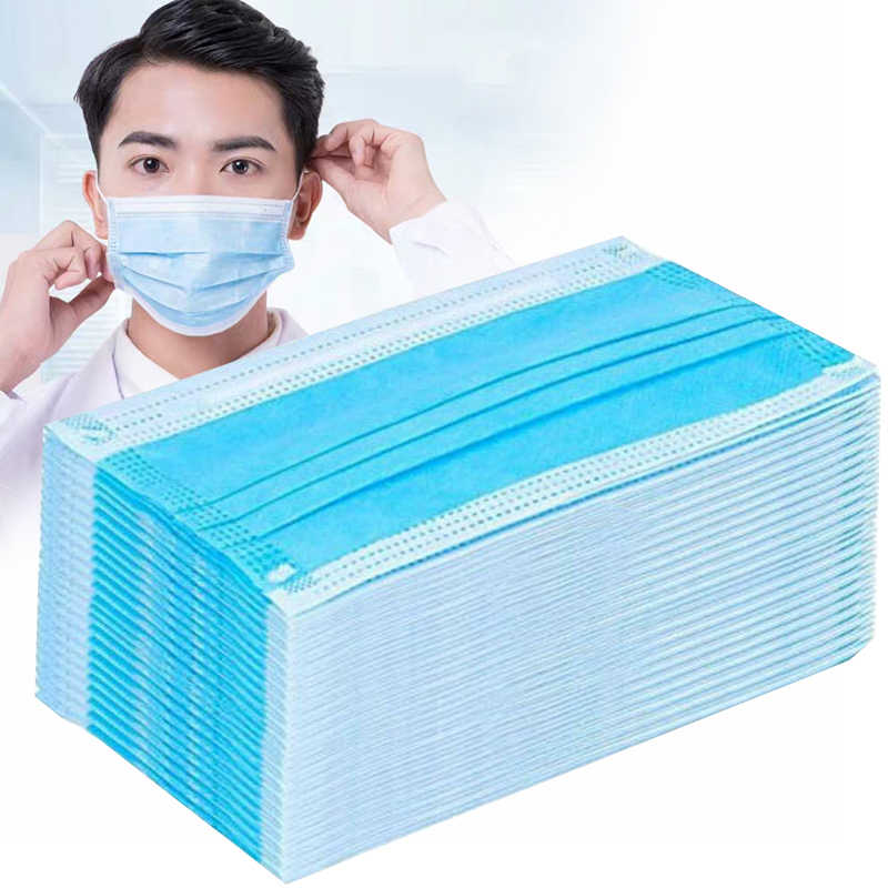 50PCS/Lot Disposable Non-woven Face Mouth Mask Elastic Soft Anti Haze Dust Protective Mask Nose Mask