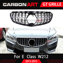 E Class W212 GT Grill Vertical Grille For Mercedes E Class Facelift Only 2014-2015 ABS Mesh E260 E300 E350 GT grill