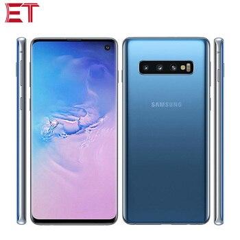 Купить Оригинальный Samsung Galaxy S10 G9730 мобильный телефон 8 ГБ ОЗУ 128 Гб ПЗУ Snapdragon855 OctaCore 6,1 дюйм1440x3040 NFC Dual SIM Android телефон