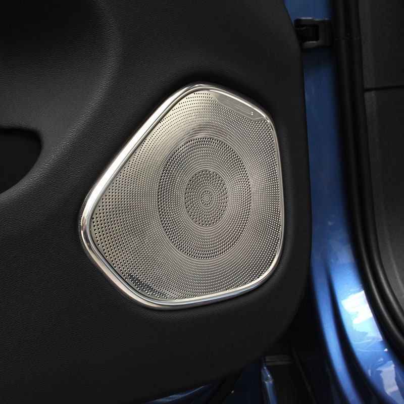 2018 2019 model for Volvo xc60 door speaker frame xc60 door speaker cover stainless steel door decoration sticker-in Interior Mouldings from Automobiles & Motorcycles    1