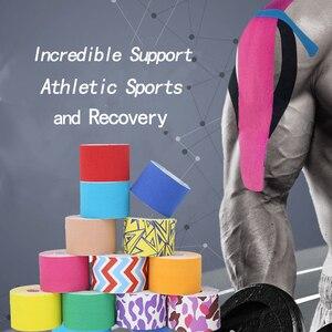 Кинезиологический Tape-16ft отрезание рулон-лучший клей для снятия боли для мышц, шин, колена и плеч водонепроницаемый терапевтический помощь