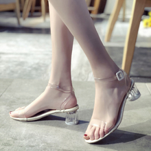 Summer High Heel Sandals Women 2019 Crystal Shoes Heels Transparent Mujer Lightweight Fashion Outdoor Garden