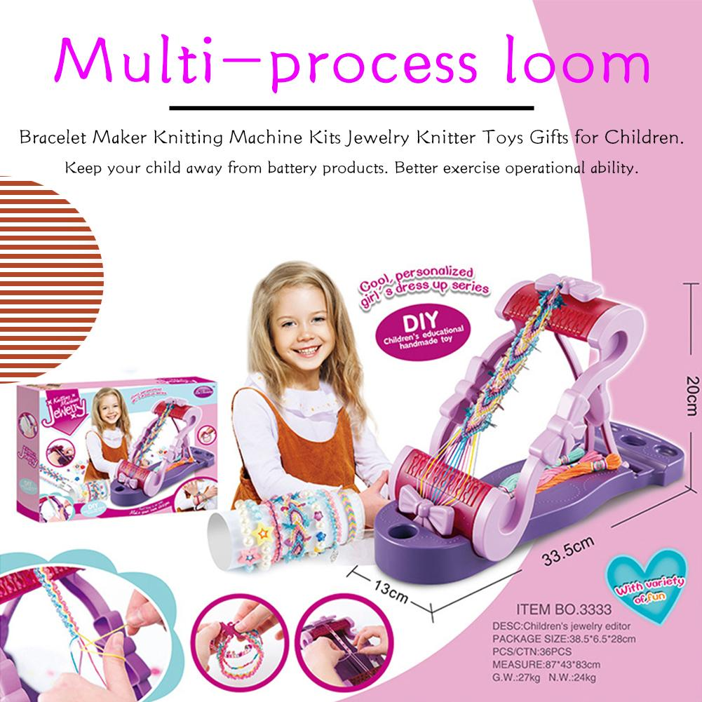 Children's Bracelet Organizer Princess Knitting Girl Beaded Toy Jewelry Knitting Machine Toy Fun Handmade