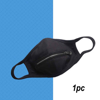 Unisex Washable Protective Mouth Mask Men 2020 Respirator Women Reusable Zipper Mouth Mask Zipper Mask Easy to Drink Facemask 5# image