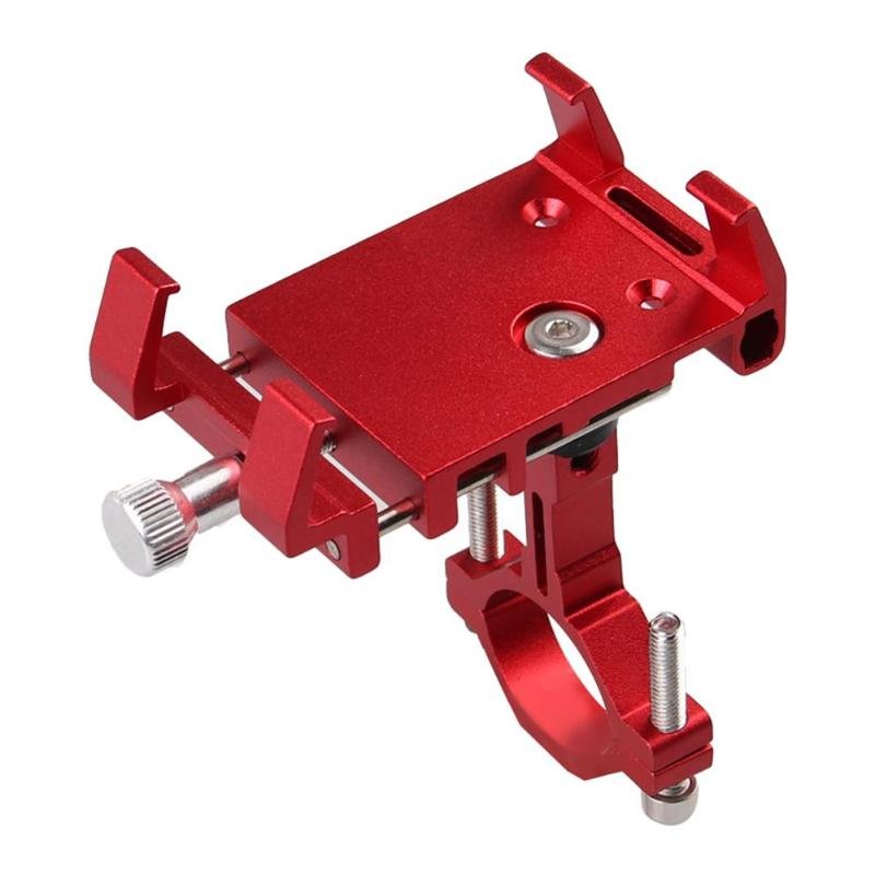 Aluminum <font><b>Bicycle</b></font> Phone <font><b>Holder</b></font> For <font><b>Smartphone</b></font> Adjustable Support GPS Bike Phone Stand Mount Bracket image