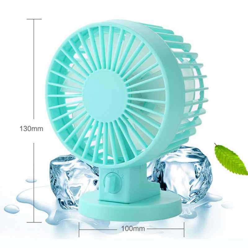 Мини USB персональный настольный вентилятор, мощный ветряной портативный небольшой тихий вентилятор 2 скоростных режима двойные лезвия для офисного рабочего стола Outdoo