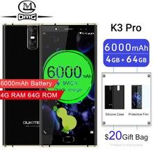 Oukitel K3 Pro Mobile Phones 6000mAh Octa Core 4GB + 64GB 5.