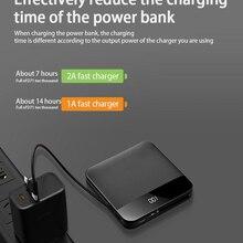 Charger Power-Bank Metal-Case External-Battery iPhone Xiaomi Portable 10000mah Samsung