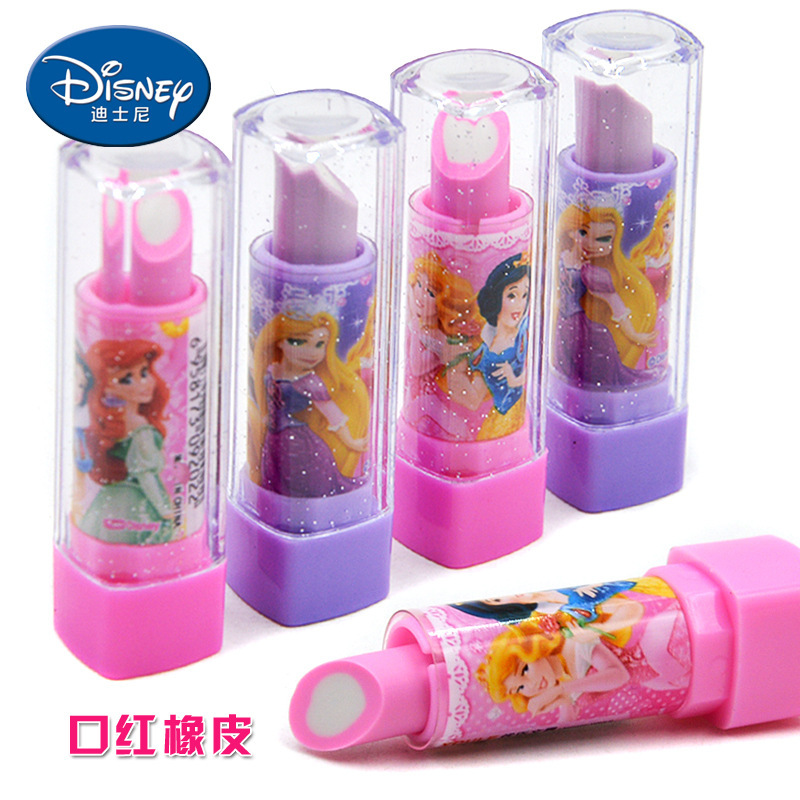 Creative Children Learning Supplies Lipstick Rubber Eraser Princess Series Cartoon Lipstick Rubber