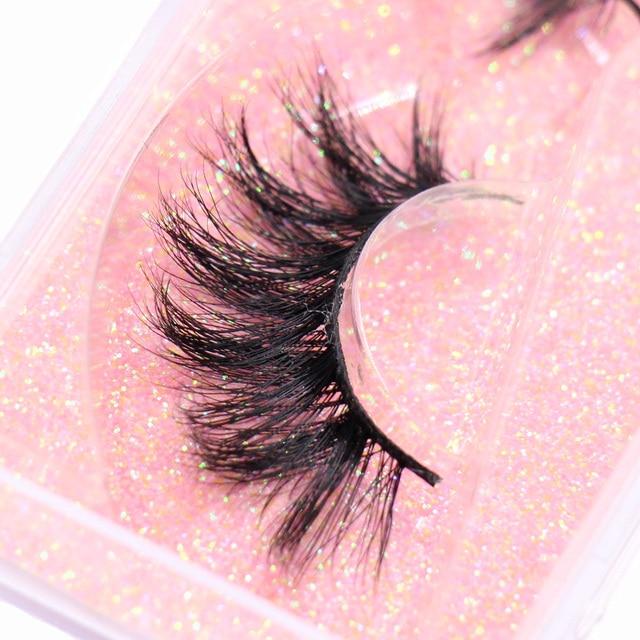 LEHUAMAO Makeup Mink Eyelashes 100% Cruelty free Handmade 3D Mink Lashes Full Strip Lashes Soft False Eyelashes Makeup Lashes 2