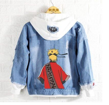 New Naruto hoodie Anime Uchiha Sasuke Jeans Coat Men Women Fashion Jacket