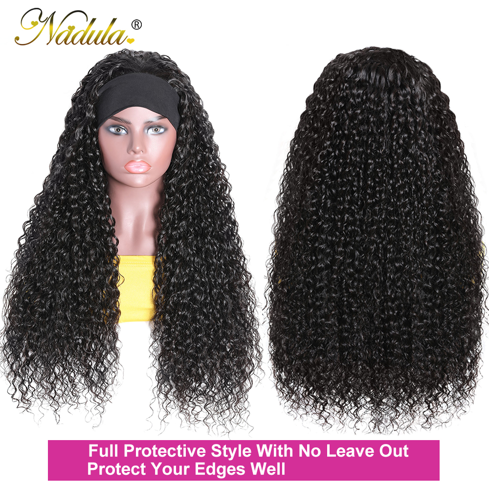 Nadula Curly Headband Wig  Long Curly  Wig with Headband  Wig 100%  Headband Wig 2