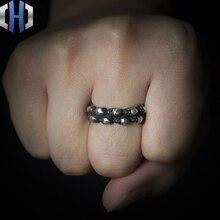 Original Design Handmade Silver Series Two Skull Ring 925 Opening Niche
