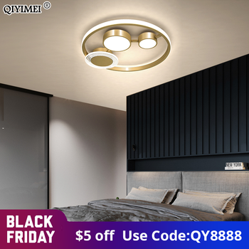 New Modern LED Chandeliers Lighting With Remote Control For Bedroom Dining Living Room Simple Lamp Home Gold Black Lustre Lights