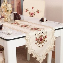 Fashion European Garden embroidery table runner's special cloth art bed mat TV cabinet elegant floral tablecloth home decoration