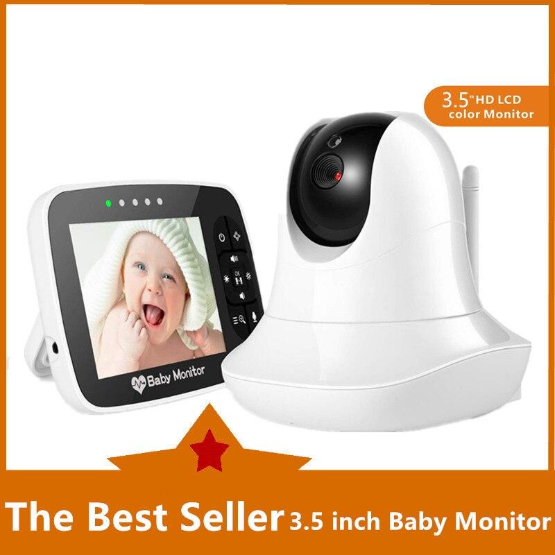 3.5 cala elektroniczna niania przenośna bezprzewodowa kamera HD Smart Baby Infared Night Vision ekran wideo zdalne pochylenie i zoom