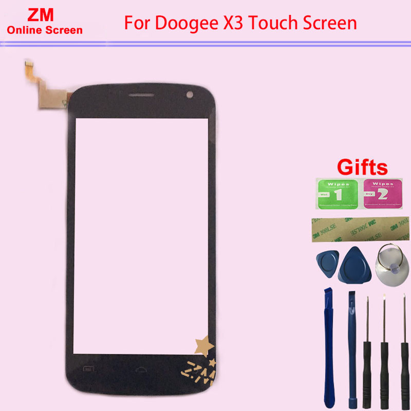 RYKKZ <font><b>4.5</b></font> <font><b>Inches</b></font> For Doogee X3 <font><b>Touch</b></font> Screen No <font><b>LCD</b></font> Display Digitizer Replacement <font><b>With</b></font> Tools image