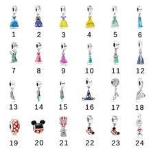 Бусины мечты подходят для оригинальных браслетов браслет из настоящего серебра 925 пробы Очаровательные Подвески для платья для женщин пода...