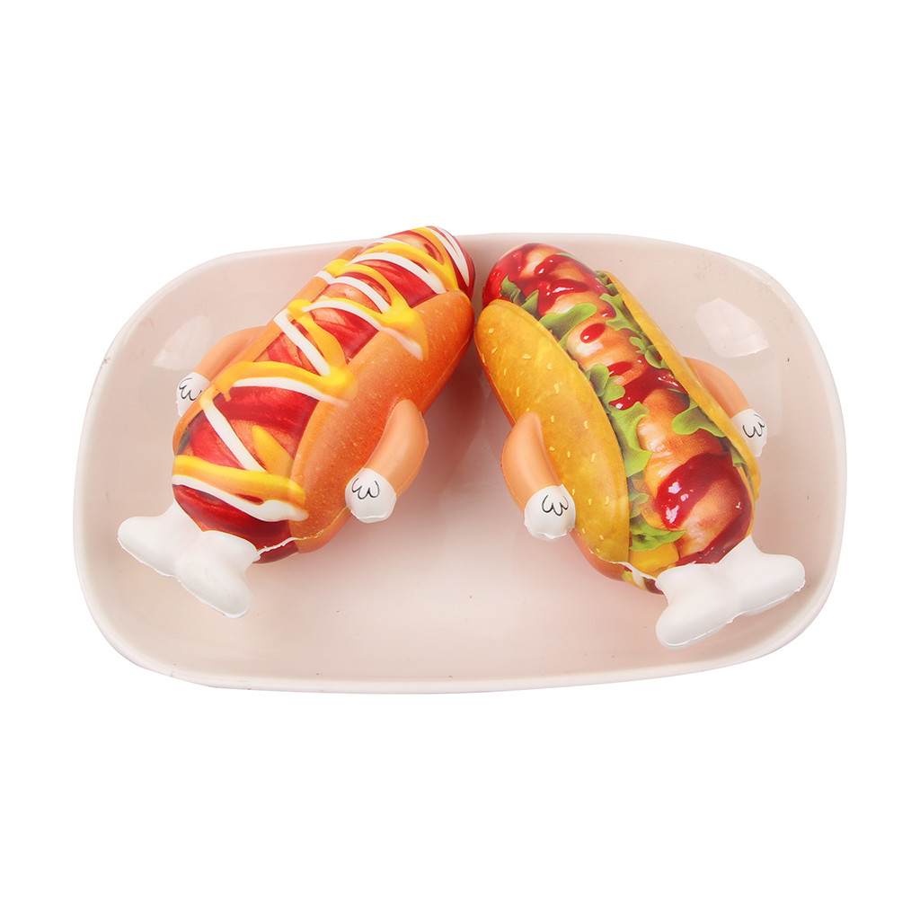 Mini Adorable Hot Dog Doll Slow Rising Kids Stress Reliever Decompression Toy Anti-stress Jumbo Squishy Stress Christmas Gift Z7