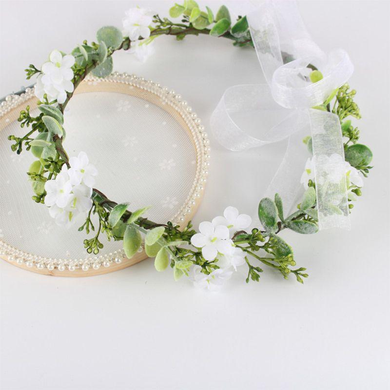 Estilo de floresta casamento nupcial tiara imitação