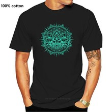 Lotus sacré imprimé sur T-Shirts Mandala OM YO-GA culture hommes T-Shirts bouddhisme indien fleur T-Shirts de haute qualité
