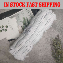 White 38/190/380Meter Length 8mm Elastic Band Sewing Rubber Cord Rope Garment DIY Clothing Crafts Accessories