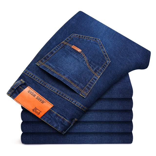 Business Style Slim fit Straight Jeans  5
