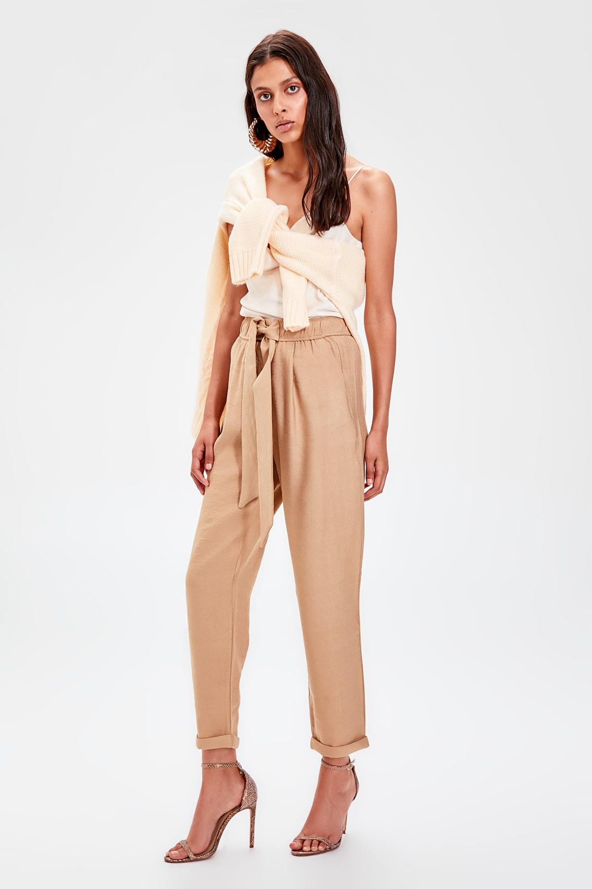 Trendyol Camel Beli Wheel Pants TWOAW20PL0186