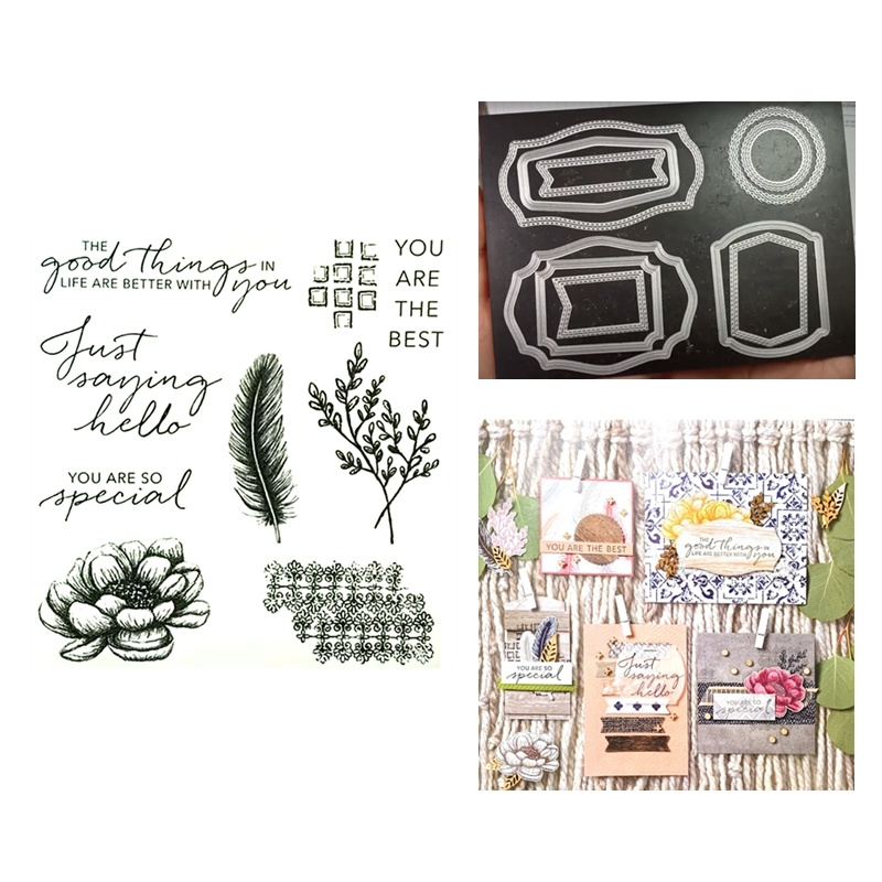 New 2020 DIY Metal Cutting Dies And Scrapbooking For Paper Making Words Flowers Embossing Frame Card Clear Stamps Stampin Up Set