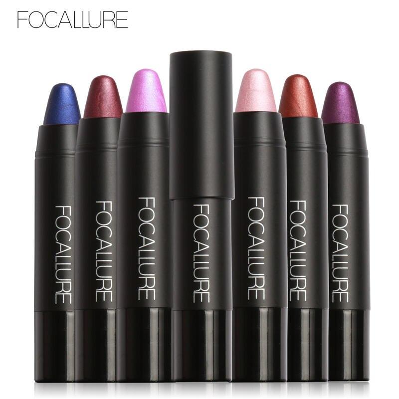 FOCALLURE 19 Colors Metal Matte Lipstick Long Lasting Lipstick Velvet Lipstik Waterproof Lips Makeup Natural Lip Tint