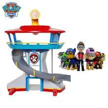 Pata patrulha brinquedos cão capitão patrulla canina conjunto base de resgate centro comando filhote de cachorro patrulha anime figuras de ação modelo brinquedo do miúdo presentes