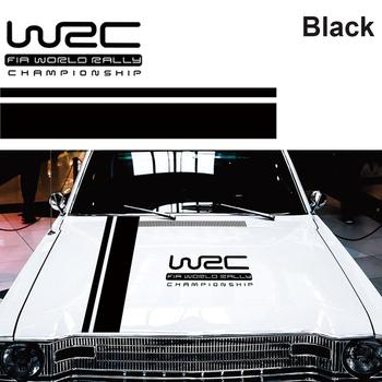 110*15cm W-RC Stripe Racing Sports Sticker 3 Colors Graphic Car Hood Cover Vinyl Decal Car Stickers Styling Accessories image