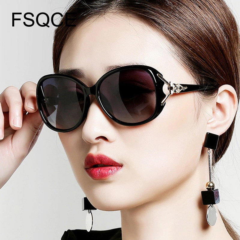Vintage Gradient Frame Women's Sunglasses Retro Metal Decoration Shades For Female Elegant Glasses Sun Zonnebril Dames 2019