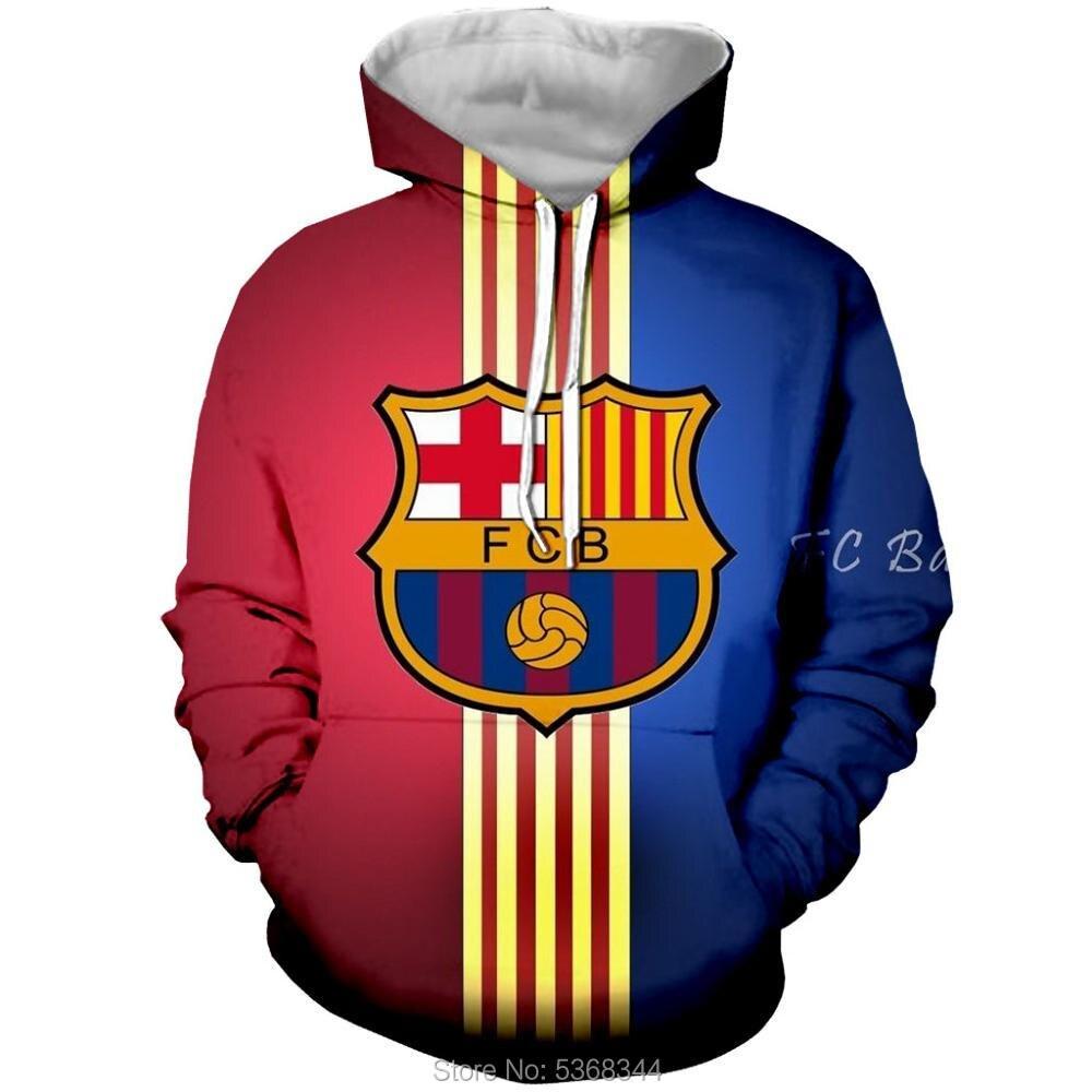 New Barcelona Hoodie Autumn And Winter Casual Hoodies Sweatshirts Football Club Uniform Men Women Round Neck Pullover Clothing