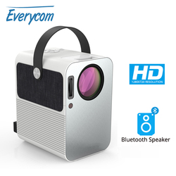 Everycom R10 LED Video Mini Projector HD 720P Portable Beamer Support Full HD 1080P Home Theater Cinema Use As Bluetooth Speaker