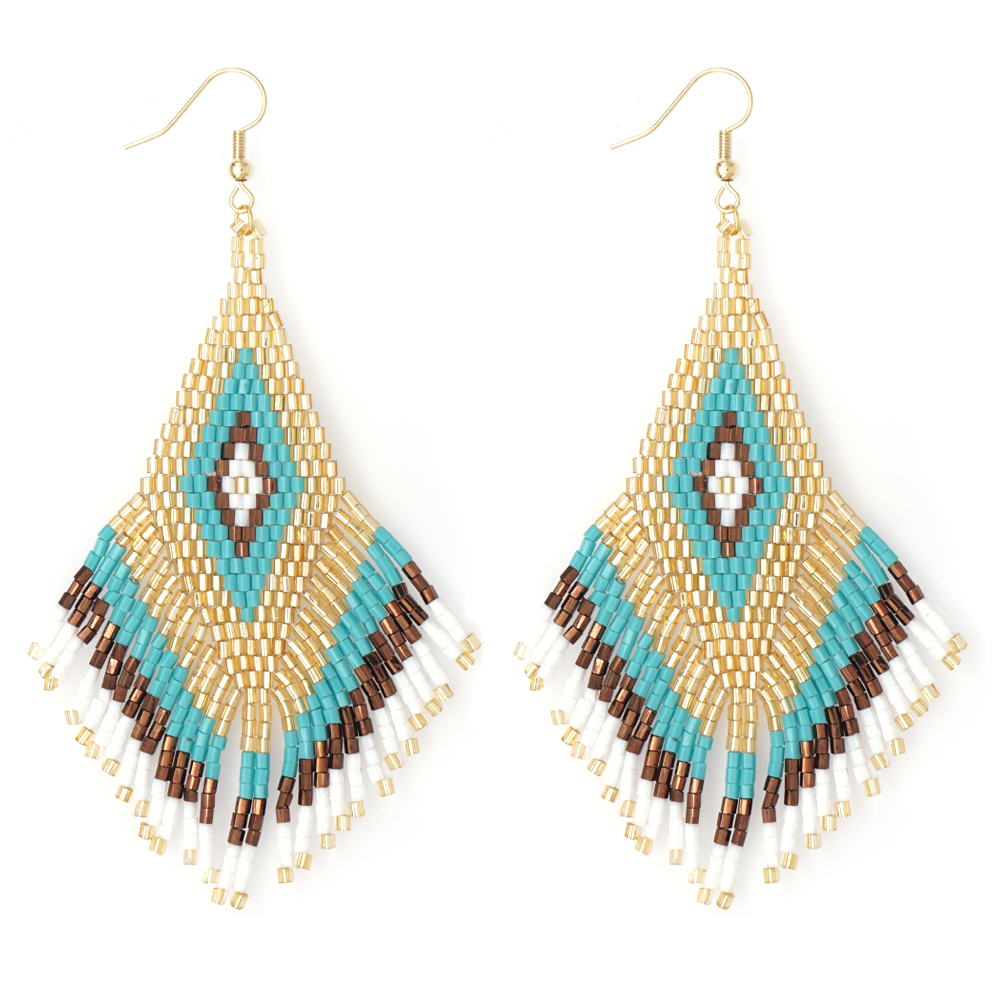 Go2boho Bohemian Earrings Pendientes Mujer Moda 2020 MIYUKI Earrings For Women Aretes Boho Summer Jewelry Handmade Loom Beads