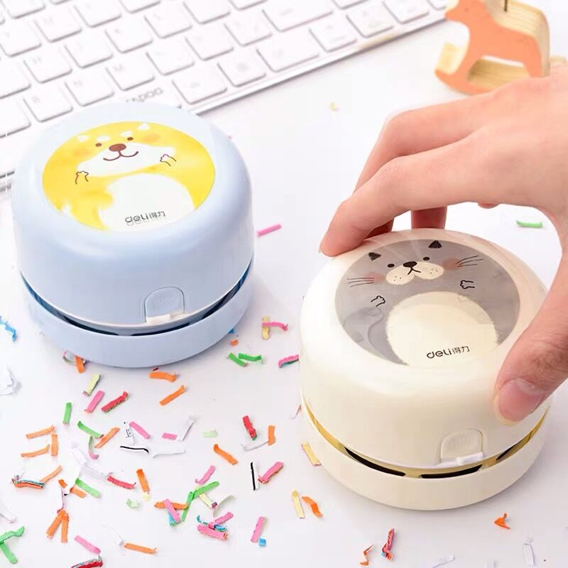 2020 Sharkbang Kawaii Rechargeable Mini Portable Desktop Cleaner Household Wireless Cleaner Cleaning Paper Dust Suction Rubber