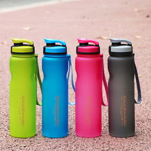Scrub Super Plastic Sports Fitness Water Bottle Outdoor Riding Cup Portable Space 1000ML/600ML